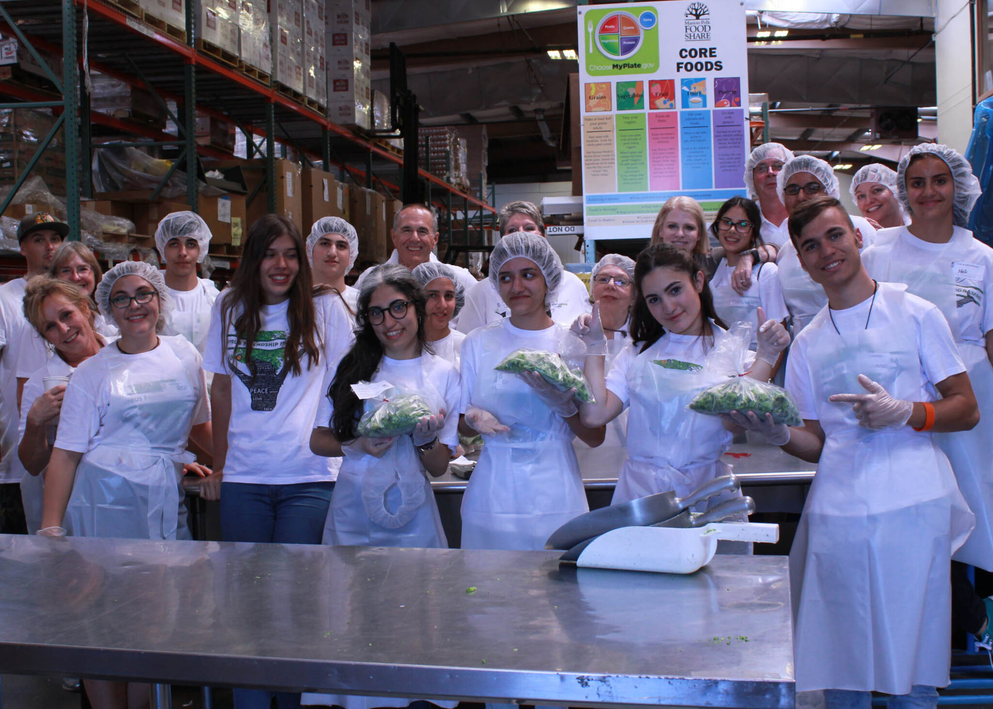 Volunteers from Cyprus Friendship Program at Marion Polk Food Sh