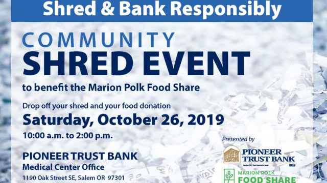 Pioneer Trust Bank Community Shred Day